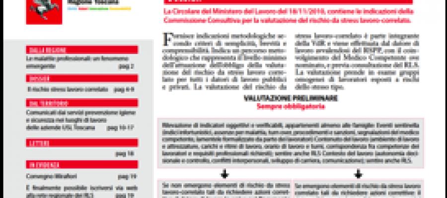 Bolletino dei rappresentanti dei lavoratori per la sicurezza Toscana Rls